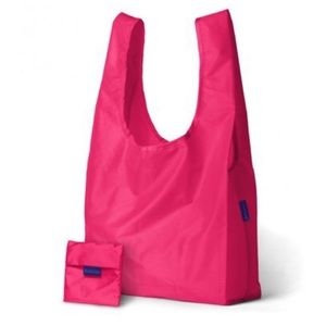 Pink Baggu bag and pouch